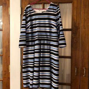 Lane Bryant Blue and black striped dress.